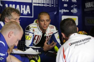 MotoGP – Test Brno – Valentino Rossi prova il nuovo telaio