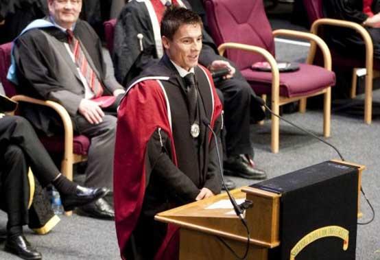 Laurea honoris causa per James Toseland