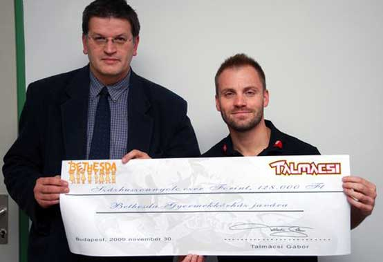 Gabor Talmacsi aiuta i bambini di Bethesda