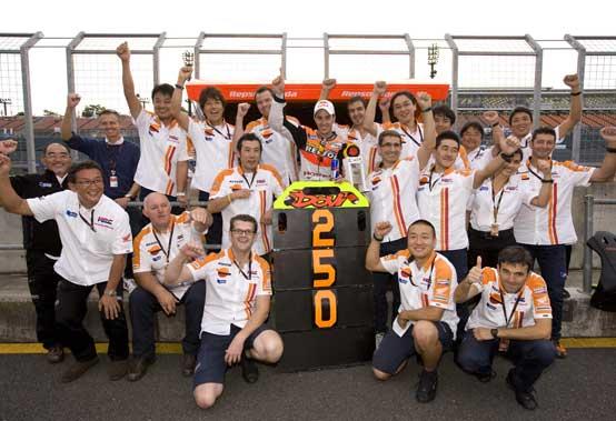 Il Repsol Honda Team raggiunge i 250 podi