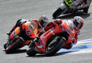MotoGP – Estoril – Casey Stoner cade al quinto giro