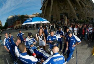MotoGP: Alla Sagrada Familia va in onda il Lorenzo Show – Video