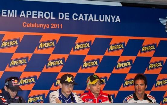 MotoGP: Lorenzo, Stoner e Rossi parlano prima del Gran Premio di Catalunya