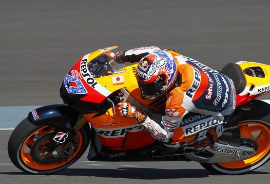 """MotoGP Indianapolis, Prove Libere: Casey Stoner """"L'asfalto resta scivoloso"""""""