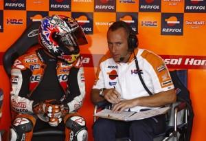 MotoGP Brno, Prove Libere 3: Sul bagnato il più veloce è Stoner, Rossi terzo