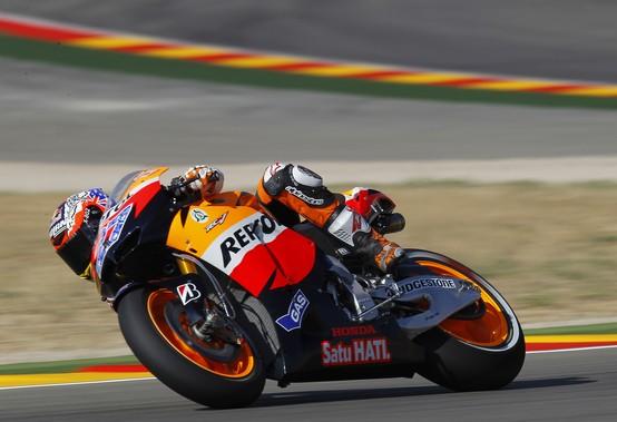 """MotoGP Aragon, Prove Libere: Casey Stoner """"Domani sarà una giornata molto dura e impegnativa"""""""