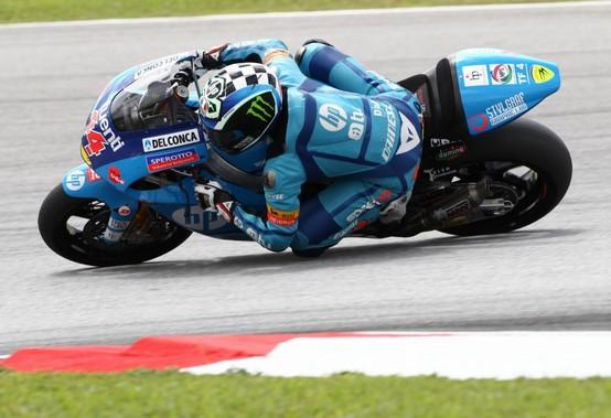 Moto2 Sepang, Warm Up: Pol Espargarò al comando, out Marquez