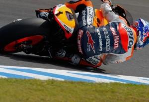 MotoGP Motegi, Warm Up: Stoner al comando, Rossi quarto