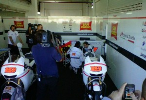 MotoGP: Ecco Bautista nel box del Team Gresini