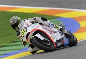 Moto2 Valencia: Vince Pirro con Simoncelli sulla sua carena!