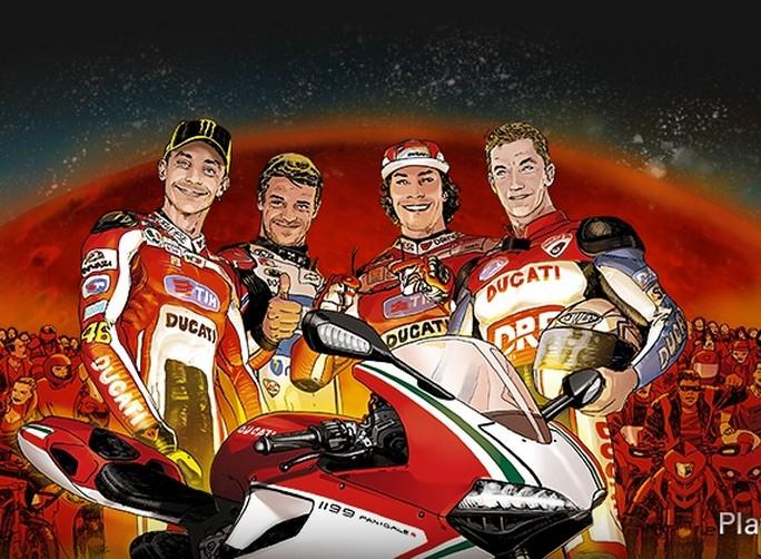 "MotoGP: Anche Valentino Rossi e Nicky Hayden al ""Diavel Drag Race"""