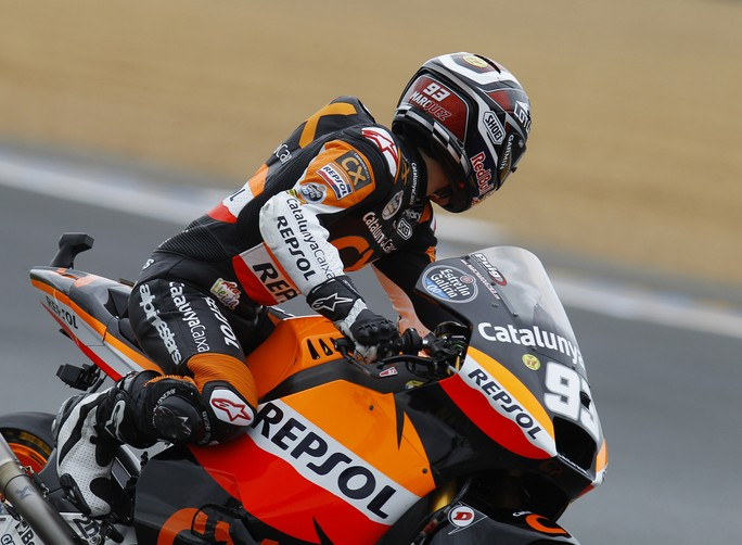 Moto2 Le Mans, Warm Up: Marquez davanti a Luthi
