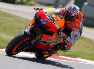 MotoGP Barcellona, Test: A metà giornata il più veloce è Stoner, Rossi 9°