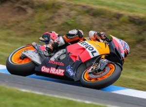 MotoGP Phillip Island, Warm Up: Stoner davanti a Lorenzo e Pedrosa