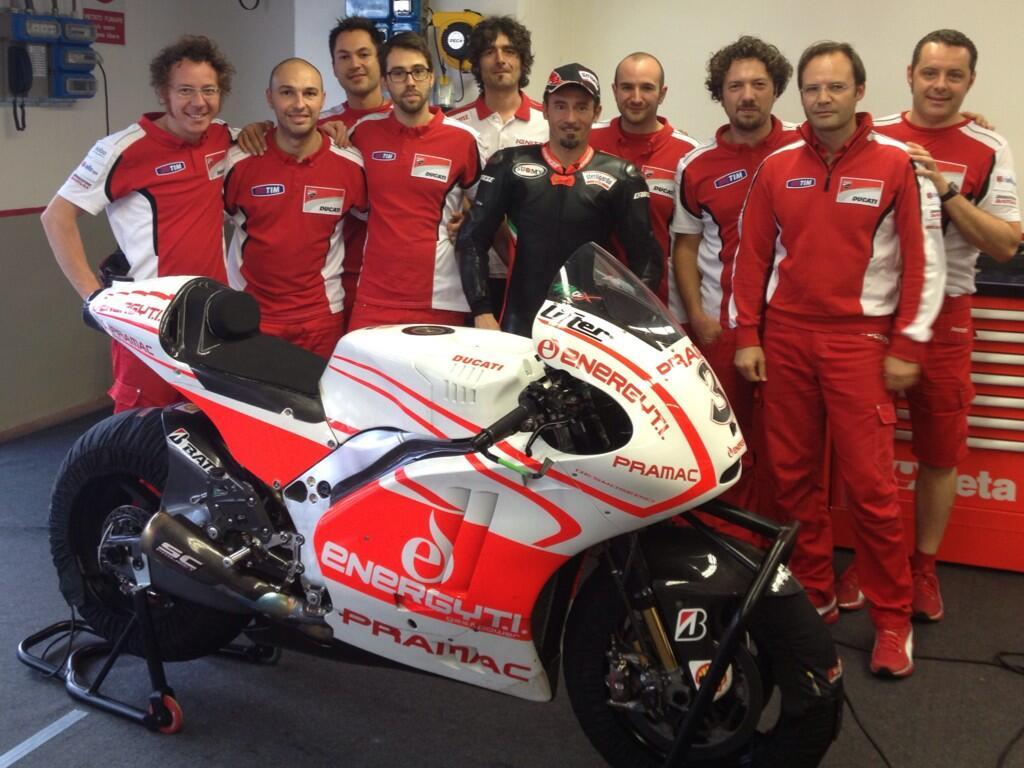 """MotoGP: Il meteo mette lo """"zampino"""" anche nel 2° giorno di test Biaggi – Ducati al Mugello"""