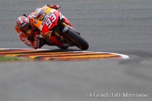 MotoGP Sachsenring, Warm Up: Marquez il più veloce, Pedrosa Out