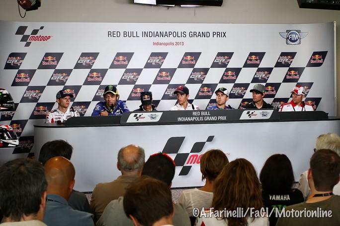 MotoGP Indianapolis: Valentino Rossi unico italiano nella conferenza stampa Pre-GP