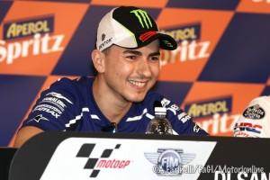 """MotoGP: Jorge Lorenzo """"Il più grande? Hailwood o Agostini? Io dico Valentino Rossi"""""""