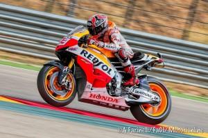 "MotoGP Aragon: Marc Marquez ""suona"" la sesta, Rossi sul podio"