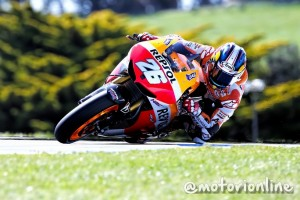 MotoGP Phillip Island, Prove Libere 3: Pedrosa al comando, Marquez ancora a terra, Rossi terzo