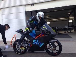 Moto3: Romano Fenati debutta sulla KTM del Team VR46 Sky