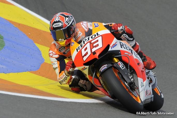 MotoGP Valencia, Prove Libere 3: Marquez sempre al Top, Rossi è terzo