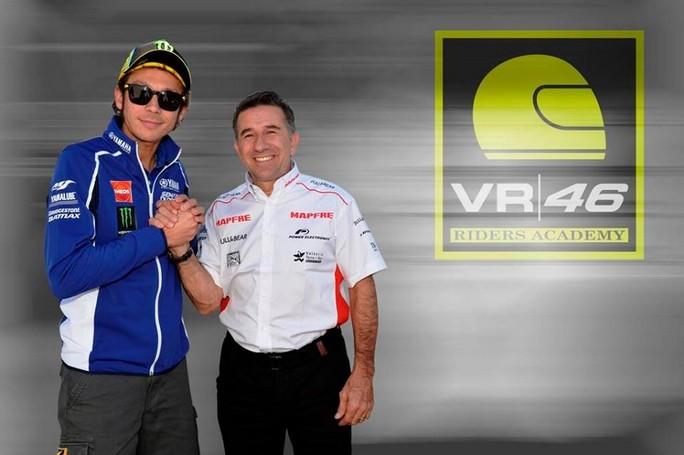 """Valentino Rossi e Jorge """"Aspar"""" Martinez insieme per supportare i giovani"""