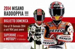 Misano raddoppia, un unico biglietto per vedere MotoGP e Superbike