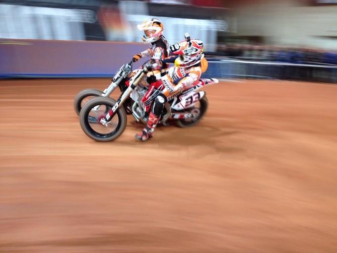 Superprestigio Dirt Track: Un grandissimo Marquez cade e si arrende a Baker