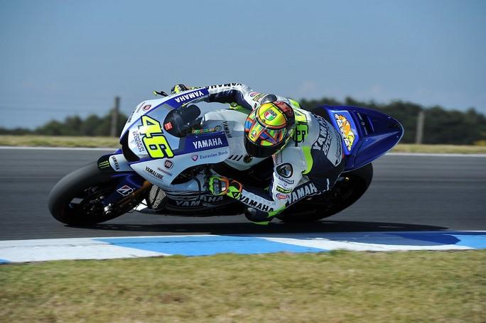 """MotoGP: Test Phillip Island Day 2, Valentino Rossi """"Oggi abbiamo lavorato su due diversi tipi di ..."""