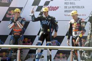"""Moto3 Argentina: Romano Fenati """"Dedico la vittoria alla mia famiglia"""""""