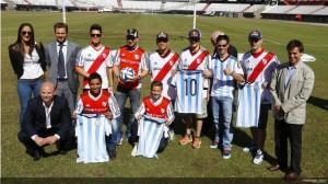 Lorenzo, Hernandez, Bautista, Folger, Cortese, Miller e Granado in visita a allo stadio Monumental del River Plate