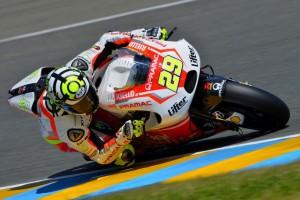 MotoGP Le Mans, Warm Up: Marquez davanti a Iannone e Rossi, risale Pedrosa