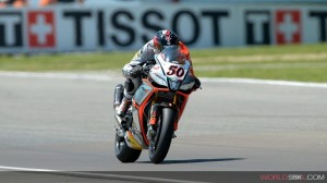 Superbike: Sylvain Guintoli va a podio a Donington