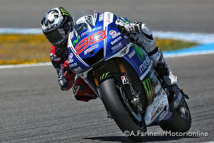 "MotoGP Jerez: Jorge Lorenzo ""Prima fila importante e buon passo gara"""