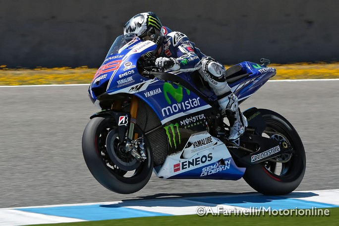MotoGP Jerez, Warm Up: Lorenzo al Top, seguono Marquez e Rossi