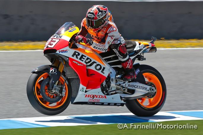 MotoGP Test Jerez: Marc Marquez davanti a tutti anche nel test