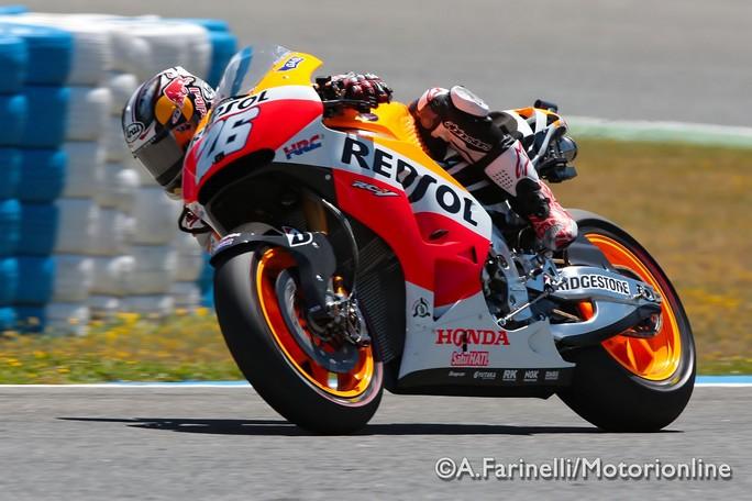 MotoGP Jerez, Prove Libere 3: Pedrosa davanti a Lorenzo e Marquez, Rossi 4°