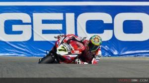 Superbike: In Ducati soddisfatti a metà dopo le libere di Laguna
