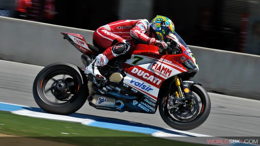 Superbike: Ducati terza e quarta in griglia per le gare di oggi a Laguna Seca