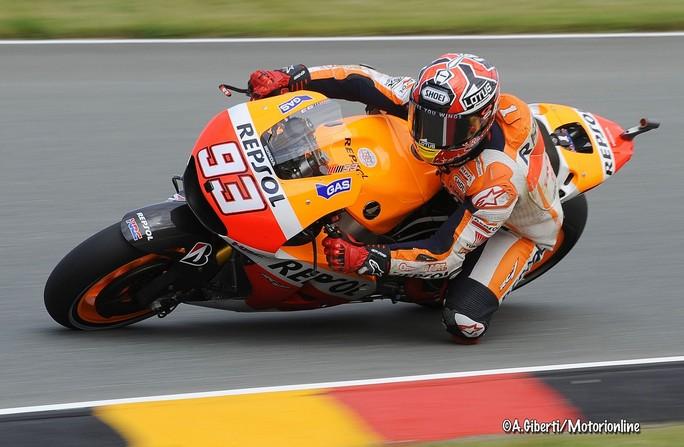 MotoGP Sachsenring, Prove Libere 3: Marquez al comando, Dovizioso fuori dalla Top Ten