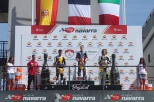 Cev Moto3 Navarra. Il microfono al podio