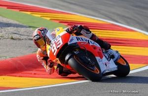 MotoGP Aragon, Prove Libere 3: Marquez detta legge, Ducati seconda con Iannone, Rossi costretto alle Q1