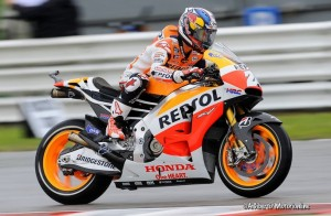 MotoGP Aragon, Warm Up: Pedrosa in testa, Dovizioso e Rossi in terza e quarta posizione