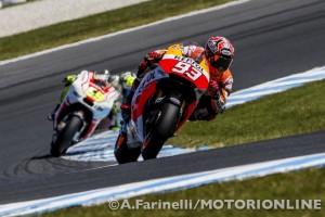 MotoGP Phillip Island: Dodicesima pole della stagione per Marquez, un sorprendente Crutchlow e Lorenzo in prima fila