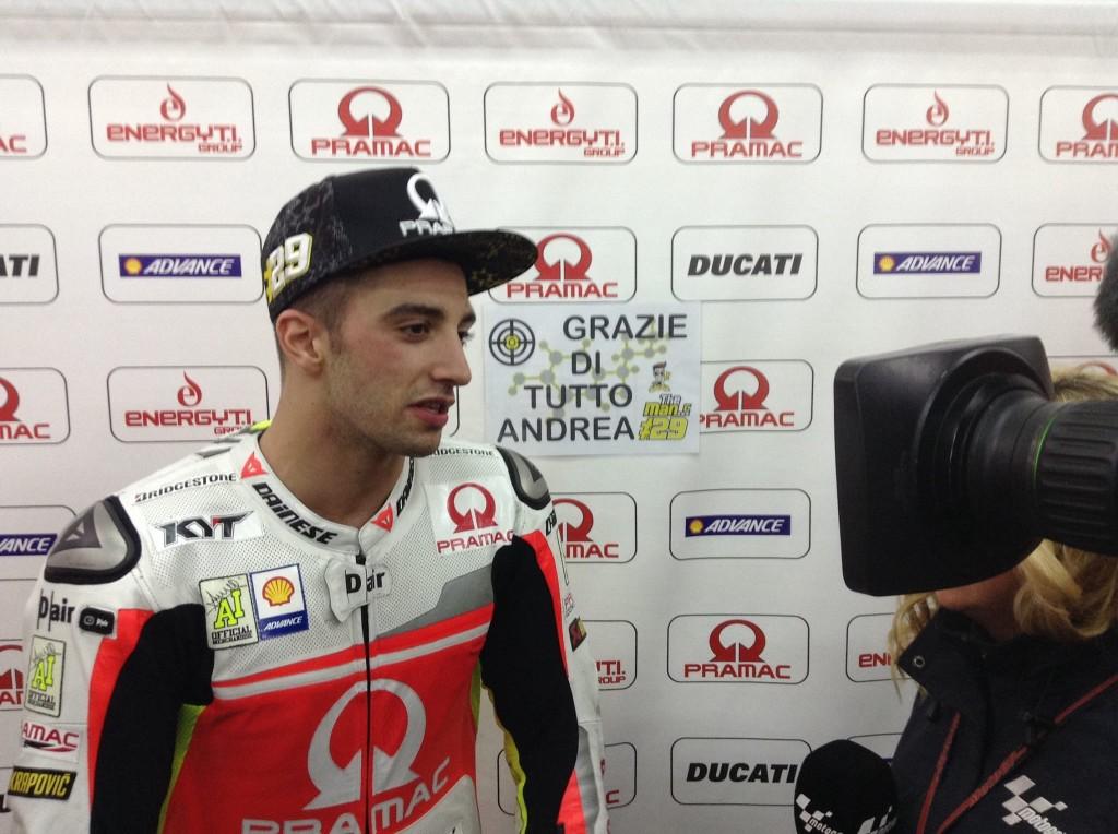 """MotoGP Valencia: Andrea Iannone """"Peccato per la gara, ma è stata una stagione positiva"""""""