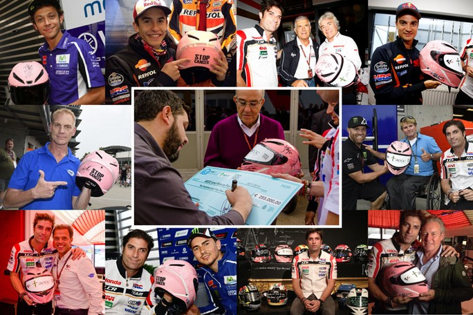 """MotoGP: """"Stop Cancer"""" 255.000 Euro per il casco dei record"""