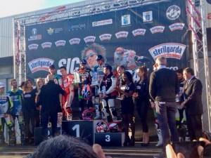 """Sic Supermoto Day 2014: Max Biaggi vince la """"All Stars"""" davanti ad Andrea Dovizioso e Leon Haslam"""