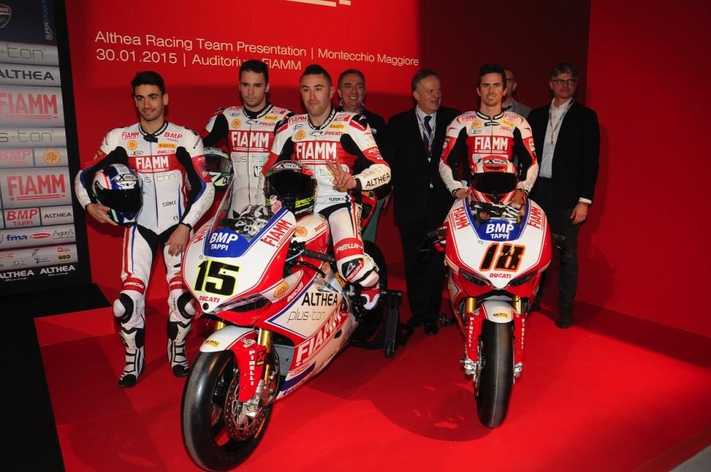 Superbike: Althea Racing Ducati debutta da una buona seconda fila