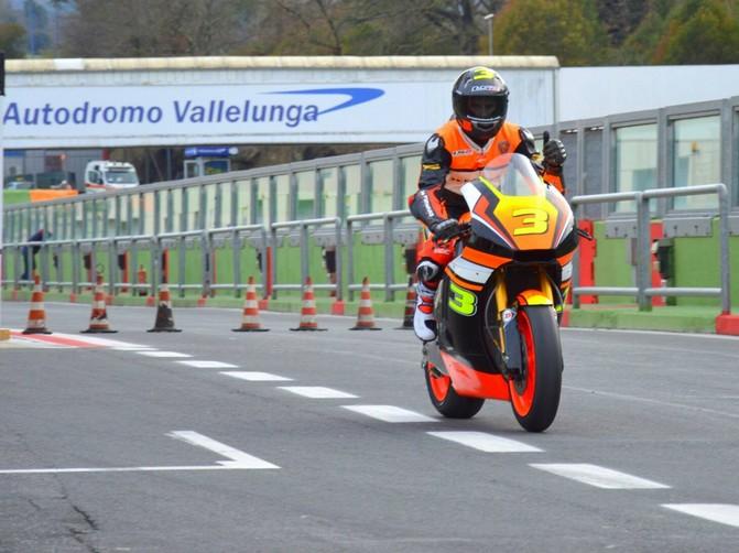 """Moto2: Simone Corsi, """"Girare a Vallelunga è stata una bellissima esperienza"""""""